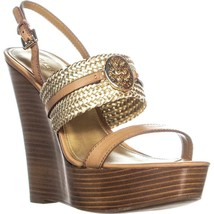 Coach Beatriz Ankle Strap Sandals, Ginger/Gold, 10 US - $63.35