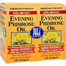 American Health Royal Brittany Evening Primrose Oil Softgels, 2 Pack - Promotes  - $30.69