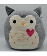 12 Inch Squishmallow Samantha Gray Owl Heart Valentine Love 2017 2018 Plush - $24.74