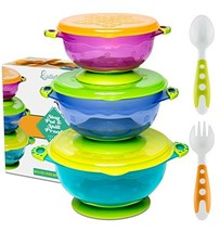 BEST SUCTION BABY BOWLS FOR TODDLERS-Toddler Bowls Baby Feeding Set with... - $27.96