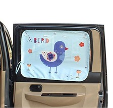 PANDA SUPERSTORE Cartoon Car Curtain Sunshade Drape Visor Car Window Curtain