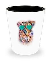 Miniature Schnauzer Shot Glass Neon Dog Sunglasses - Perfect Gift for Va... - $10.84