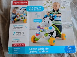 Fisher Price Learn with Me Zebra Walker New 6 months + Boys Girls Toys - $52.22