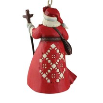 Canadian Santa Hanging Ornament from Jim Shore Around the World Collection image 2