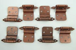 1pc SINGLE brushed copper finish hinge w/ dampner assist for cupboard door - $2.99