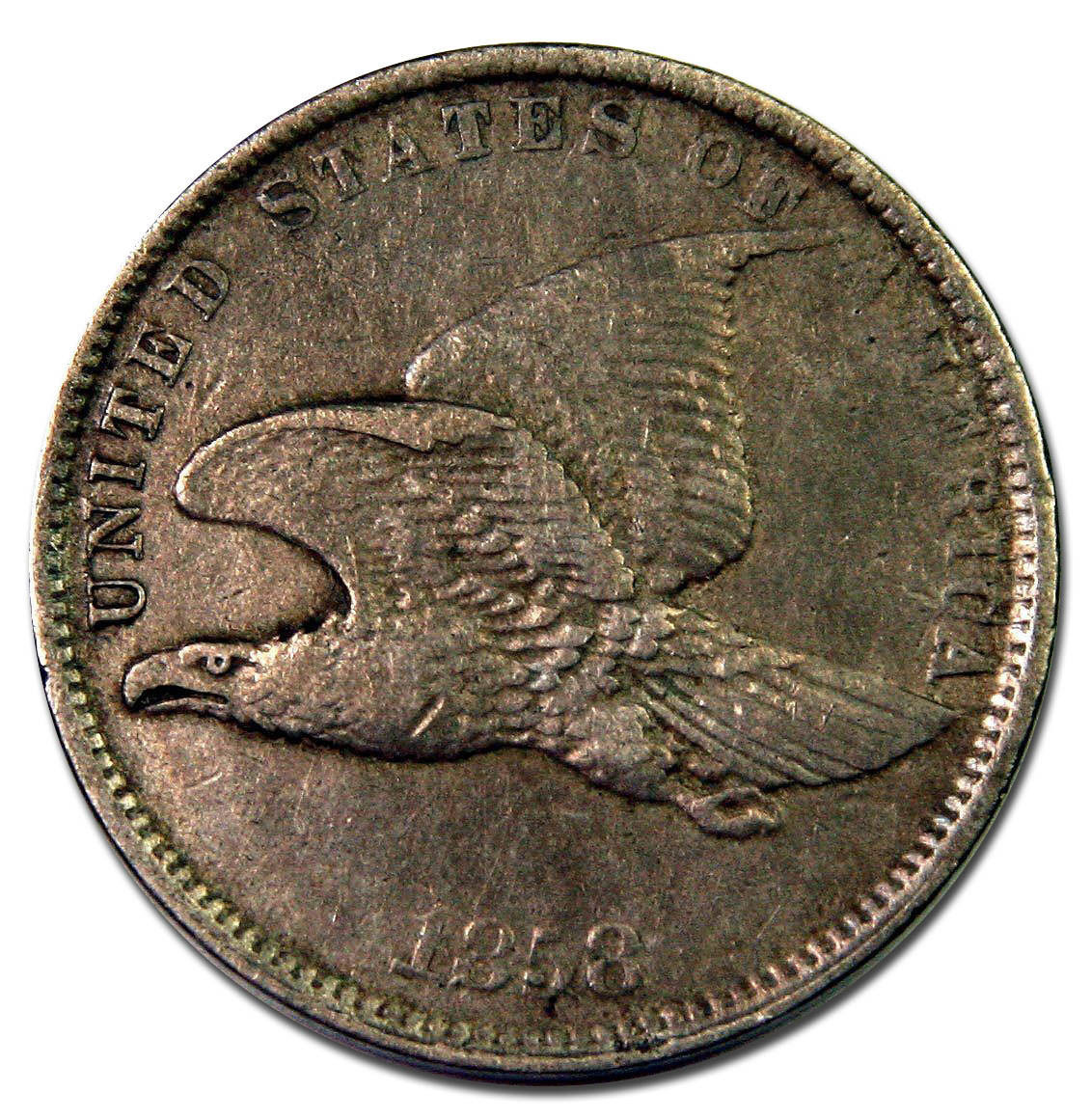 1858 Small Letters Flying Eagle Cent Coin Lot# A 913