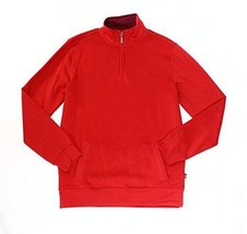 Club Room Mens Small 1/2 Zip Solid Mock Neck Sweater Red S - €16,95 EUR