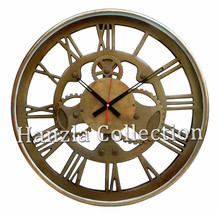 """18"""" Large Heavy Ship's Clock Nautical Antique Brass Roman Numeral Wall C... - $277.20"""