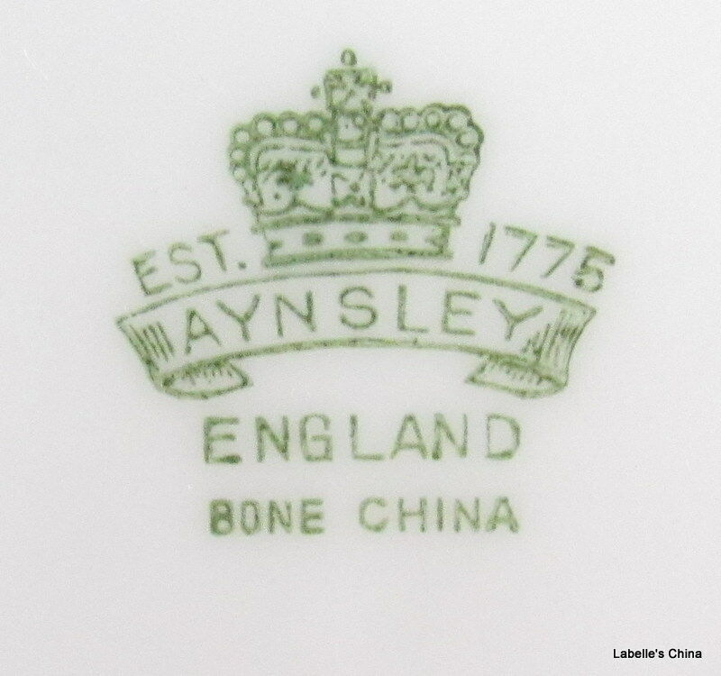 """8"""" Salad Plate Green Flowers 7359 Made in England by Aynsley English Bone China image 4"""