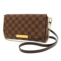 LOUIS VUITTON Favorite PM Damier Canvas Ebene N41276 LV Shoulder Bag France - $1,135.45
