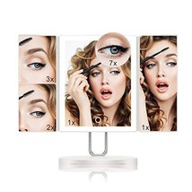 Upgraded Trifold Makeup Mirror with 34PCS LED Lights by TOUCHBeauty, 1X/... - $48.39