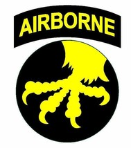 US Army 17th Airborne Division 4'' Sticker  - $9.89