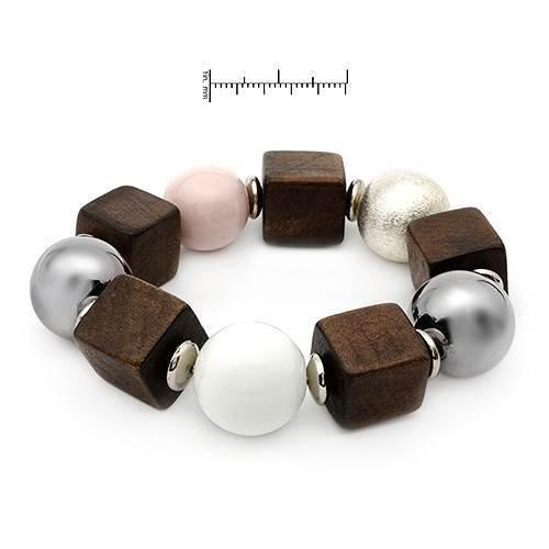 Ceramic and Wood Beaded Bracelet - $35.98