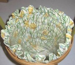 Longaberger 2008 May Series Daffodil Basket Fabric SU Liner ONLY New In Bag - $13.81