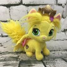 "Disney Palace Pets Rapunzel's Kitty Summer Yellow Cat Kitten 6"" Plush Blip Toys - $11.88"