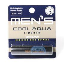 Mentholatum Men's Cool Aqua Lip Balm SPF15 Aloe Extract & Macadamia Nut ... - $10.50