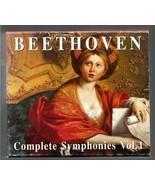 BEETHOVEN   COMPLETE SYMPHONIES VOL I  - 4 CD BOX - $7.99