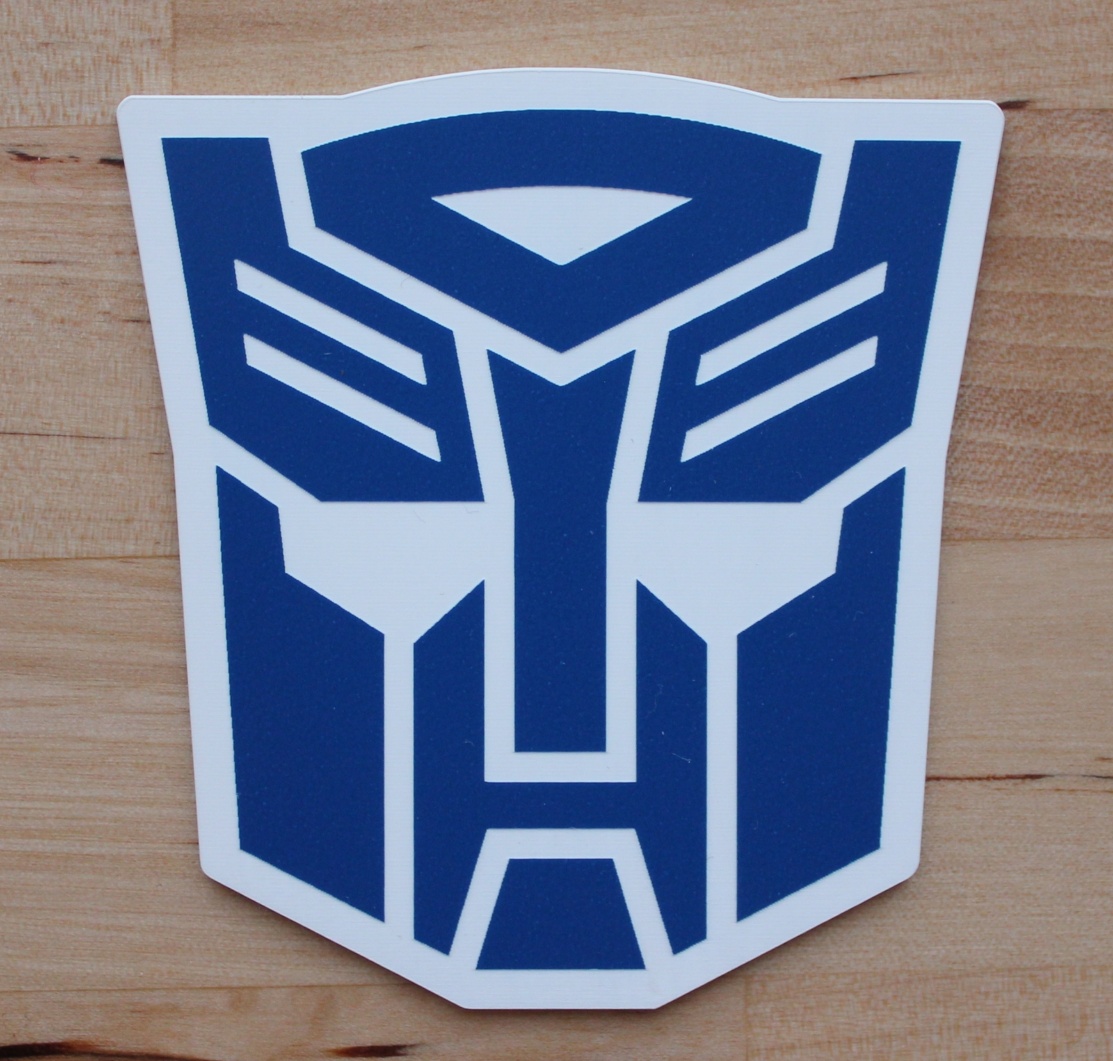 Transformers Autobot Color logo Aluminum Car Truck License Plate Tag Blue