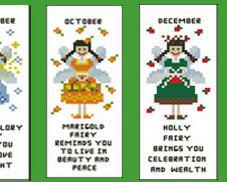 Flower Fairies All Year Round Bookmark Collection cross stitch chart PinoyStitch