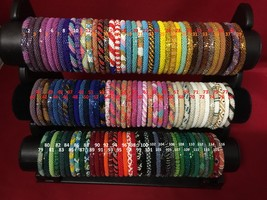 25 Pieces Glass Beaded Bracelet Made in NEPAL Handicraft and crochet Uni... - $60.00