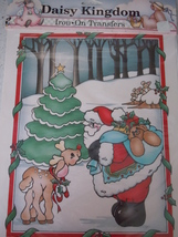 Daisy Kingdom Iron On Transfer Gentle Santa 6043 1990 New In Wrapper - $5.99