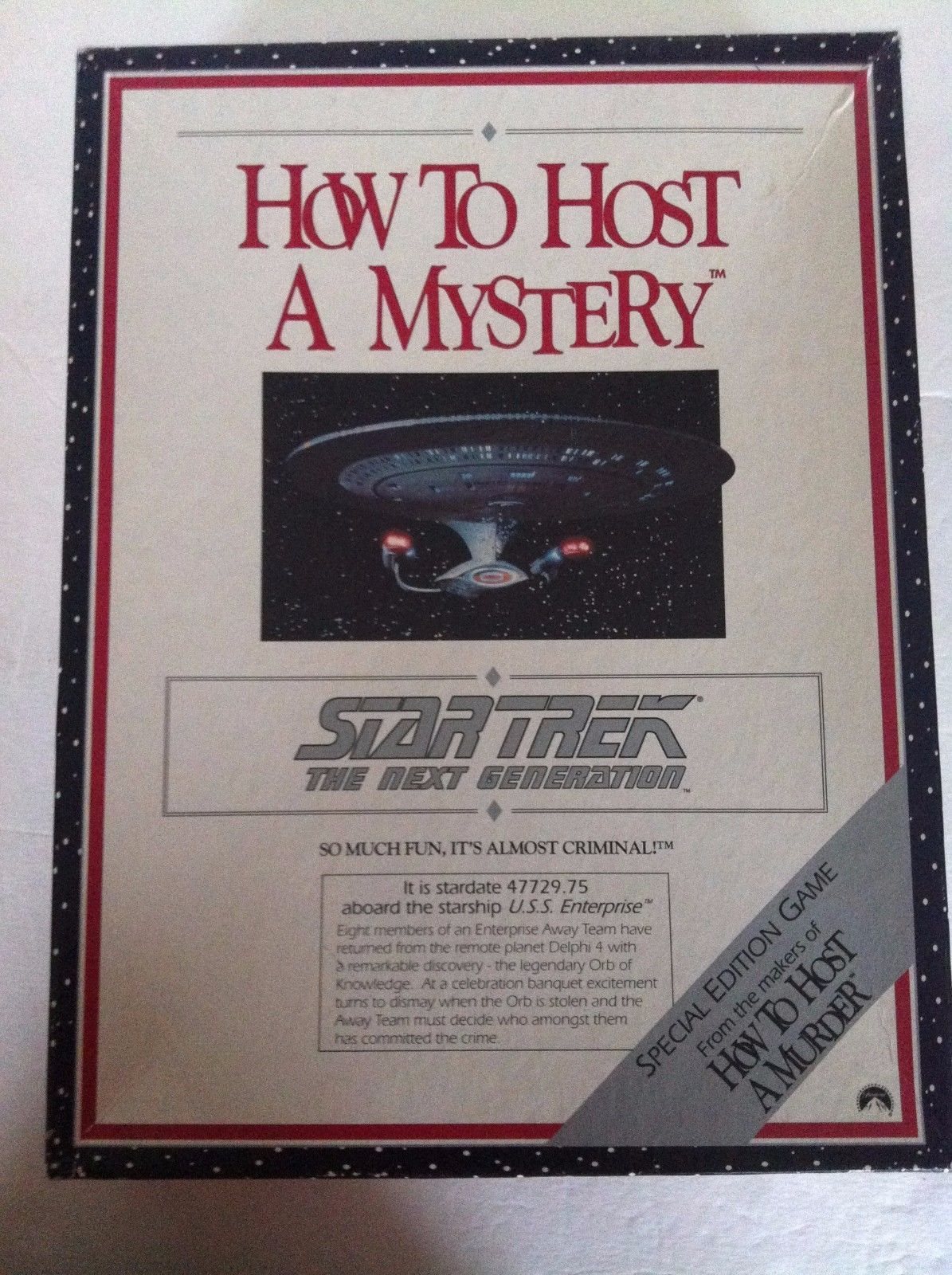 How to Host a Mystery Star Trek the Next Generation Game 1992 NIB