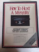 How to Host a Mystery Star Trek the Next Generation Game 1992 NIB - $35.00