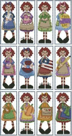 Raggedy annies year round bookmark collection 2324