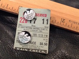 Two Vintage Tie Tacks or Lapel Pins Silver Eagles Baseball on 1985 Ticke... - $14.20