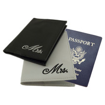 Gay Lesbian Couple Wedding Mrs & Mrs Passport Covers Cases Gift Honeymoon - $6.79+