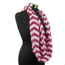 Chevron Sheer Infinity Scarf Soft Multi Color Scarves Wine Wrap Lightwei... - $7.69