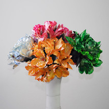 Latex Bouquet of Magnolia Artificial Flower Centerpiece Floral Wedding R... - $6.79+