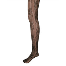 Adorox Black Floral Lace Net Lace Stockings Fishnet Tights One Size Fits... - $84,34 MXN