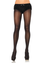 Leg Avenue Women Sexy New Opaque Sheer To Waist Tights With Cotton Crotc... - $8.99
