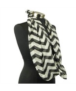 Chevron Sheer Infinity Scarf Soft Multi Color Scarves Black Wrap Lightwe... - €7,06 EUR
