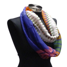 Jewel Tone Geometric Chevron Infinity Scarf Fall Accessories Shawl Scarv... - $9.99
