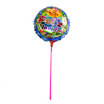 "Round Shape Helium Mylar Foil Blue ""Feliz Navidad"" Balloons W/ Sticks Party - €2,03 EUR"
