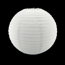 "10"" White Circle Round Paper Lantern Lamp Shade Party Home Hanging Decor... - $3.99+"
