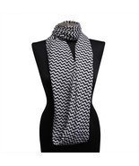 White & Black Chevron Light Weight Infinity Wrap Cowl Women Scarf Scarve... - £5.50 GBP