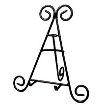 "12"" Tall Black Iron Display Stand Holds Cook Books, Plates, Pictures - $12.19"