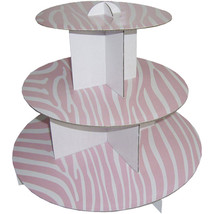 """10pk 12"""" Pink 3 Tier Cardboard Cup Cake Holder Stand Tower Wedding Baby ... - $56.09"""