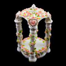 Set of 6 Medium Pink Ceramic Decorative Gazebo Statue Figurine Wedding Arch - $43.93