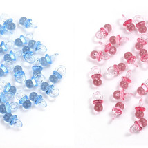 Small Blue/Pink Acrylic Baby Pacifiers Baby Shower Decoration Table Scatter - $3.99+