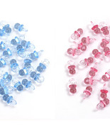 Small Blue/Pink Acrylic Baby Pacifiers Baby Shower Decoration Table Scatter - $4.99+