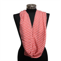 Red Chevron Lightweight Infinity Wrap Cowl Women Scarf Circle Loop Scarv... - $147,41 MXN