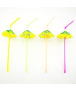 192 Hawaiian Luau Parasol Umbrella Straws Wedding Drinks Decorations Multi - $25.23
