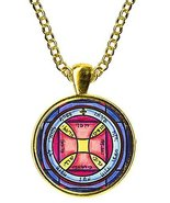 """Solomons 7th Pentacle of the Sun for Escape From Imprisonment 1"""" Gold Pe... - $14.95"""