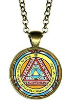 "Solomons 6th Pentacle of the Sun for Invisibility 1"" Antique Bronze Gold... - $14.95"