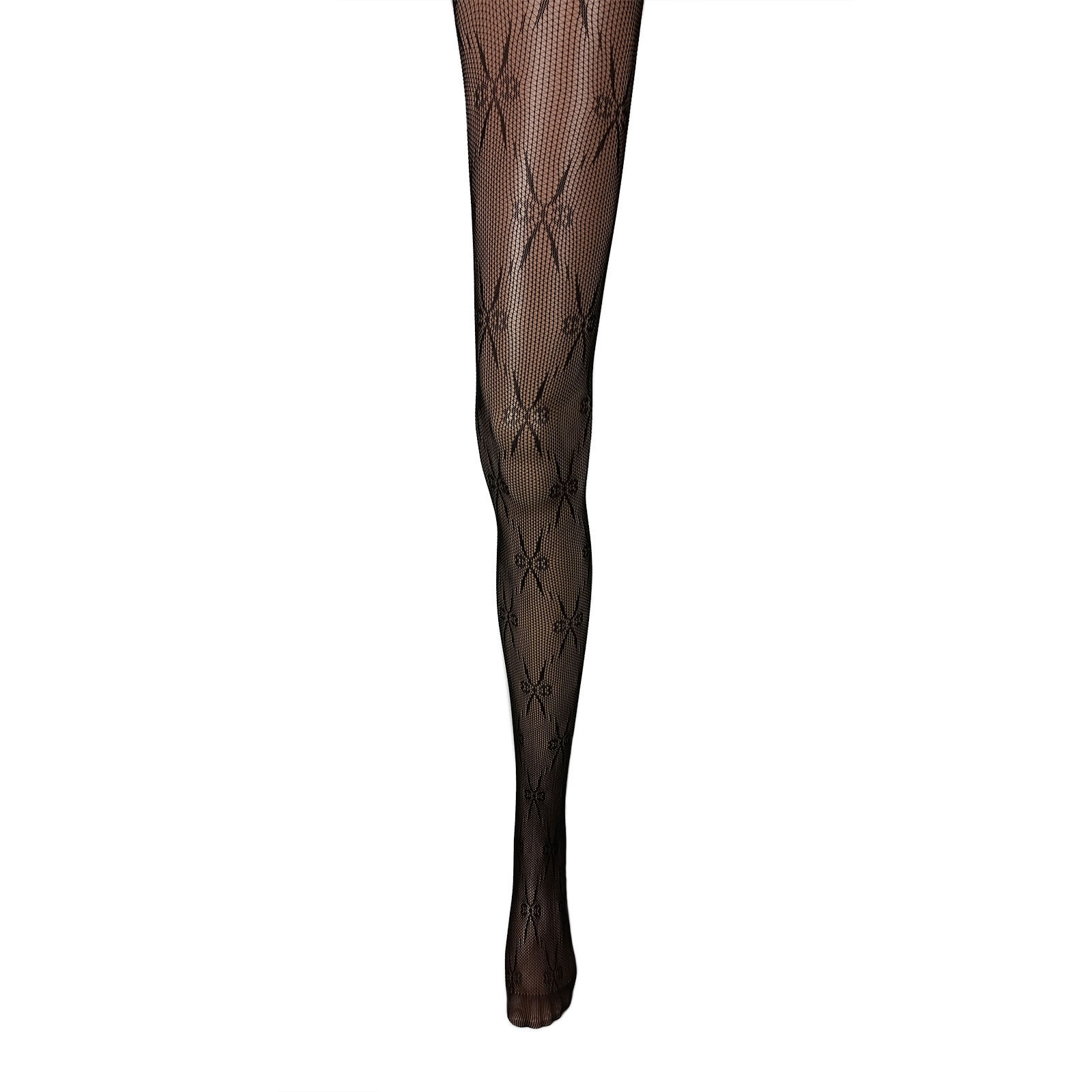 Adorox Black Bow Pattern Net Lace Stockings Fishnet Tights Pantyhose Hosiery New