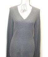 Calvin Klein Women Sweater Long Sleeve Black Cable Knit Large Feels Cott... - $37.39